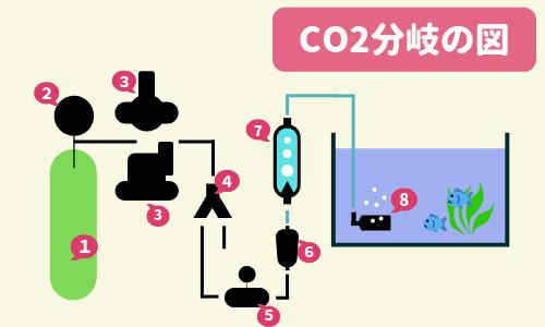 CO2を分岐して複数の水槽へ添加する方法 ー必要なもの、セッティング例、CO2分岐の注意点ー