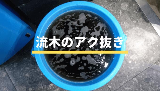 【水槽レイアウト】流木のアク抜き方法