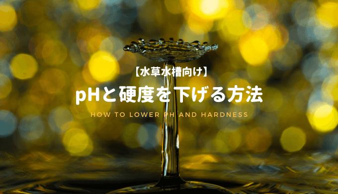【水草水槽向け】pHと硬度を下げる方法
