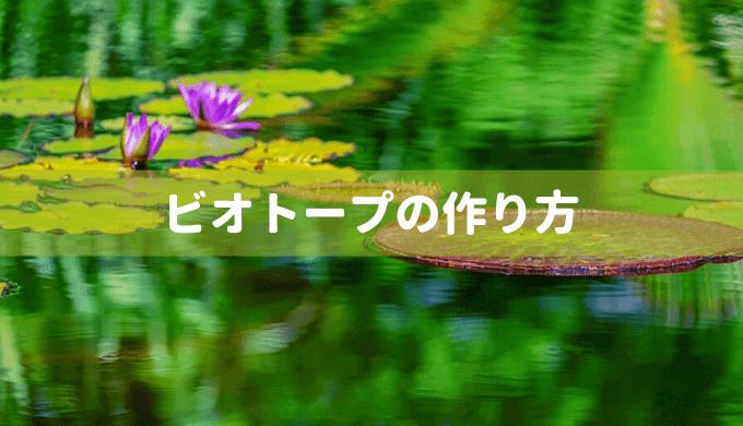 【水辺を楽しむ】睡蓮鉢を使ったビオトープの作り方