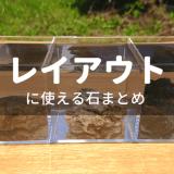 水槽レイアウトに使える石まとめ