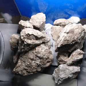 石を多用した水槽