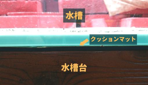 水槽台 ⇒ クッションマット ⇒ 水槽