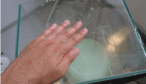 石鹸を塗る