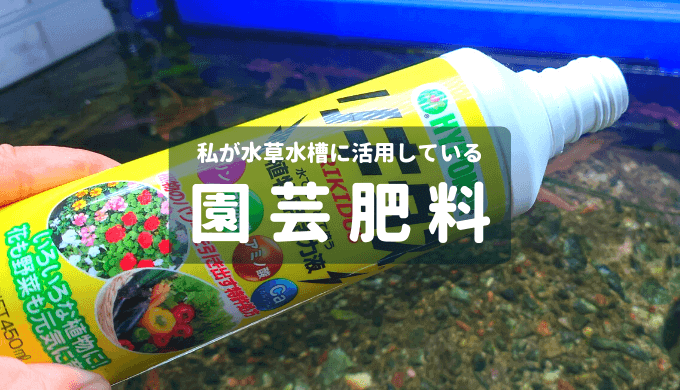 私が水草水槽に活用している園芸肥料