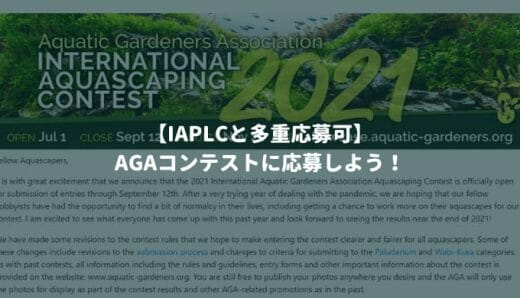 【IAPLCと多重応募可】AGAコンテストに応募しよう!-2021年は9月12日締め切り-