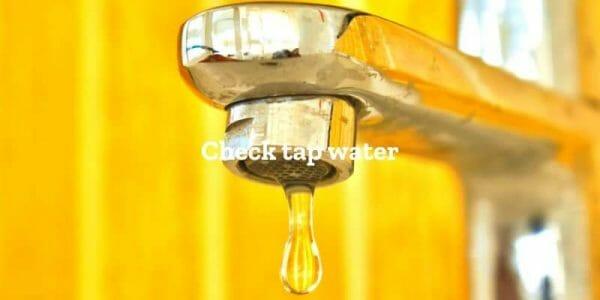 水道水をチェック